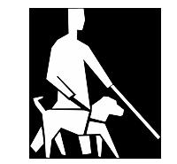 Chiens guides et d'assistance autorisés