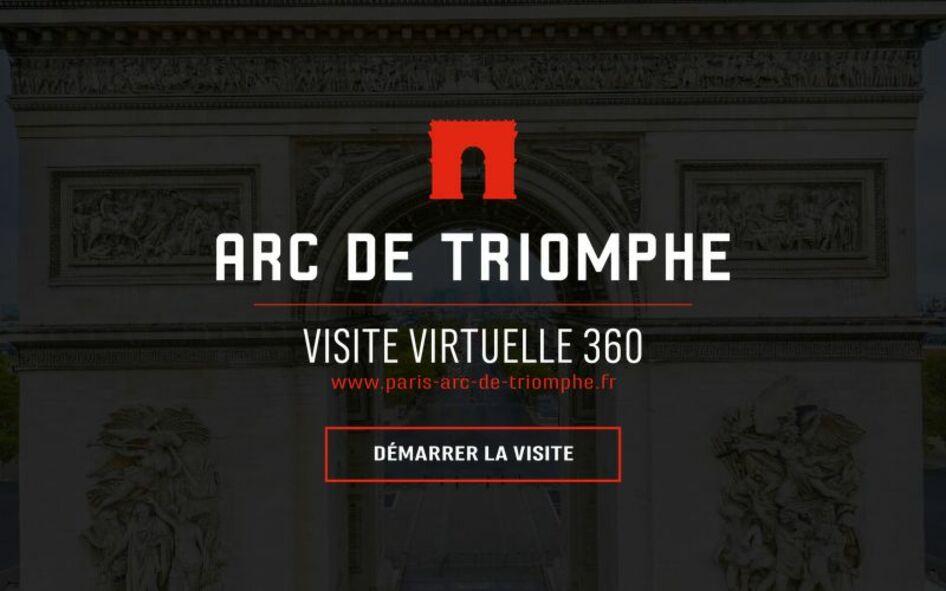 Accueil de la visite virtuelle de l'Arc de triomphe