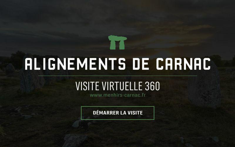 Accueil de la visite virtuelle des alignements de Carnac