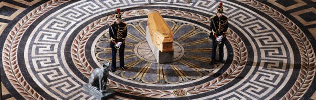 Panthéon, veillée des cendres d'André Malraux le 23 novembre 1996
