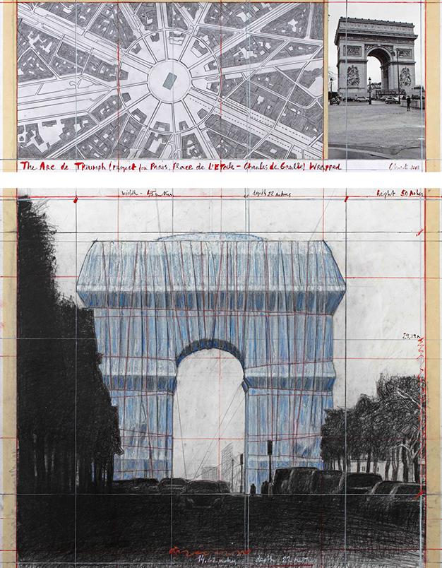 Christo - L'Arc de Triomphe empaqueté
