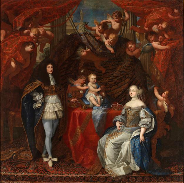 Charles Emmanuel II, Duc de Savoie, son fils et son épouse Jeanne de Savoie