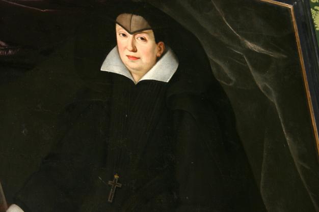Zoom ), Les sénateurs de Florence jurant allégeance à Ferdinand II de Medicis,