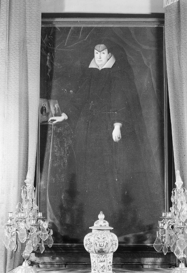 Emplacement initial du portrait au château, 1952