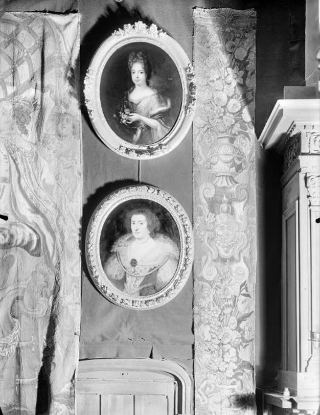 Vue de l'emplacement du tableau au château, 1948.