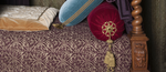 Lit à quenouilles de la chambre Renaissance du château d'Azay-le-Rideau, détail