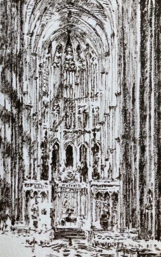 Dessin cathédrale Amiens ©Mehdi Zannad
