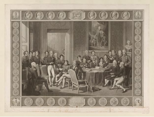 Congrès de Vienne, Gravure de Jean Godefroy