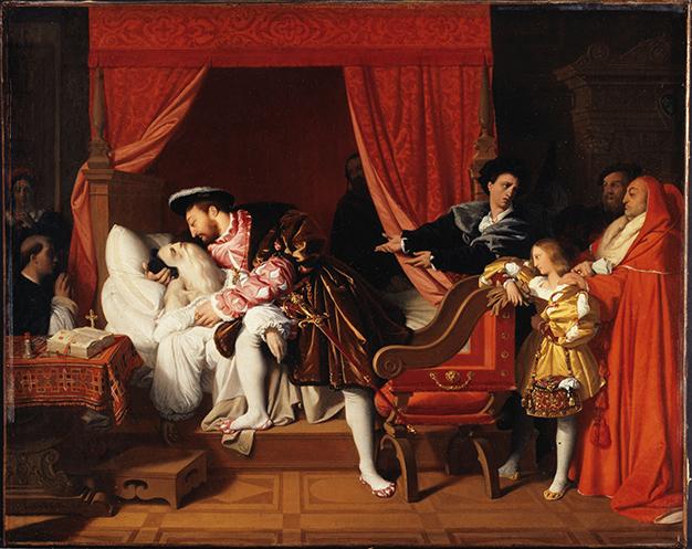François Ier reçoit les derniers soupirs de Léonard par Ingres