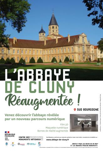 Affiche Abbaye de Cluny - Médiation numerique 2021