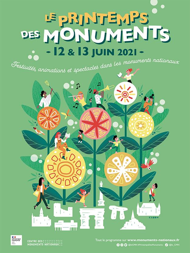 Affiche Printemps des monuments 2021