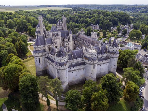 Château de Pierrefonds vu du ciel