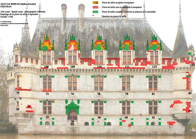 Le chantier de restauration - Visite chateau azay le rideau ...