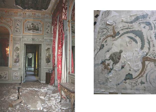 Plafond effondré du salon chinois