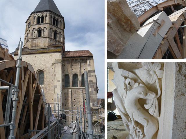 Restauration Abbaye de Cluny