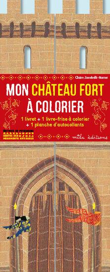 Coloriage Chateau Fort En Ligne.Mon Chateau Fort A Colorier