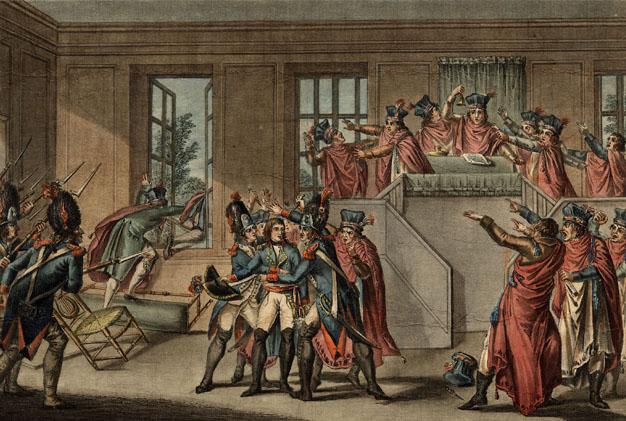 Napoléon au domaine national de Saint-Cloud : coup d'état du 18 Brumaire