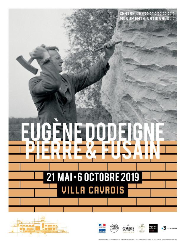 Affiche exposition Eugène Dodeigne - pierre & fusain