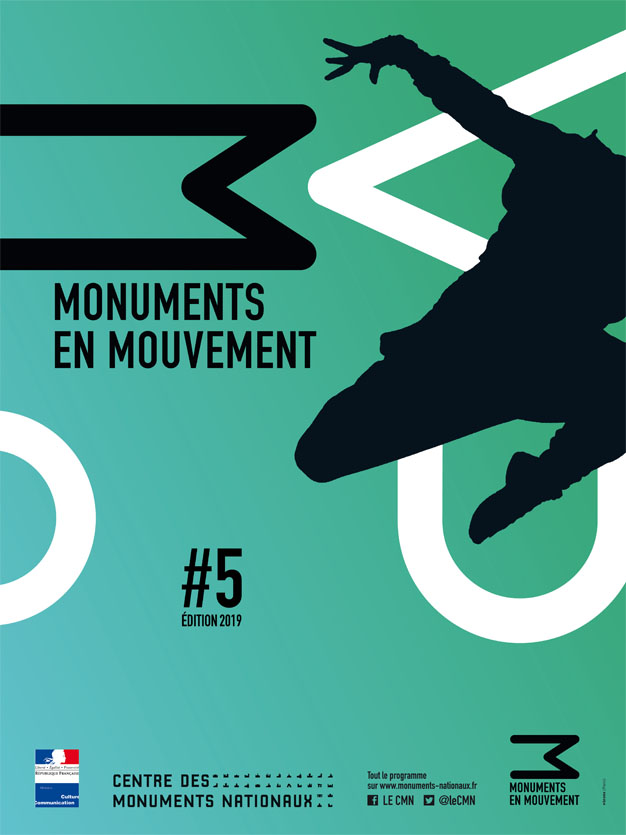 Affiche Monuments en mouvement 2019