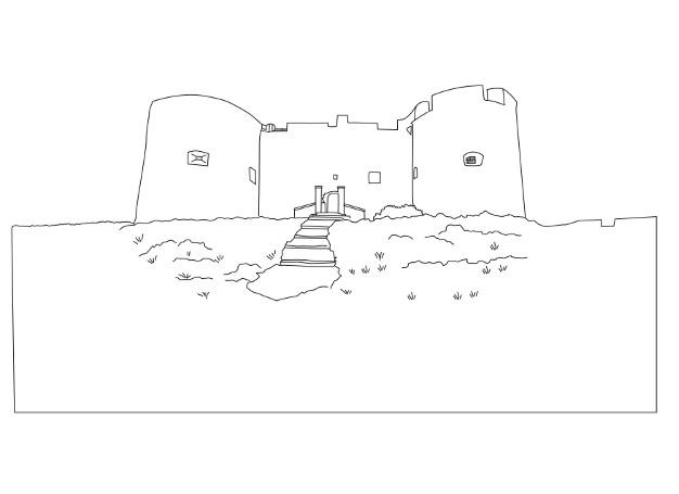 Le Chateau D If En Coloriage