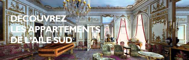 Cliquez pour visiter les appartements de l'Aile Sud
