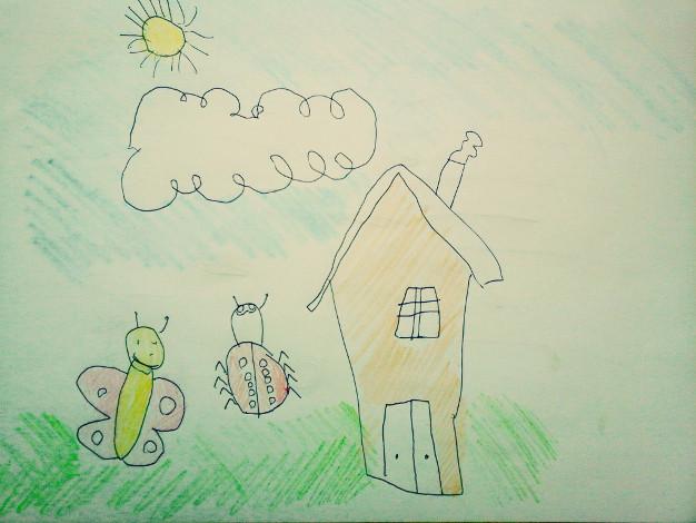 Dessin d'enfant d'une maison