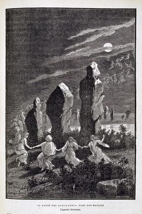"""""""La danse des Korigannes, près des menhirs. Légende bretonne"""""""