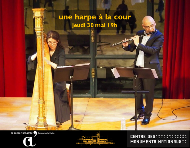 Virginie Tarrête à la harpe et Jocelyn Daubigney à la flûte