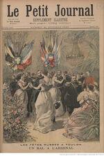 Couverture du Petit Journal du 21 octobre 1893 : les bals de l'Arsenal