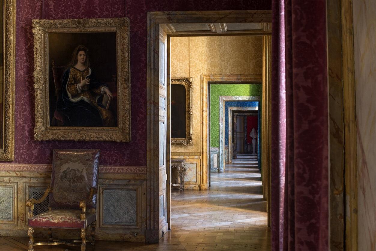 Enfilade des salles Louis XIV au premier étage de l'aile Nord du Château de Versailles