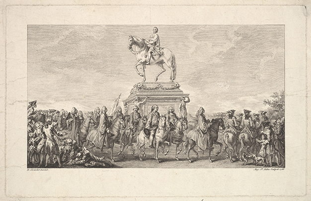 The Inauguration of the Statue of Louis XV