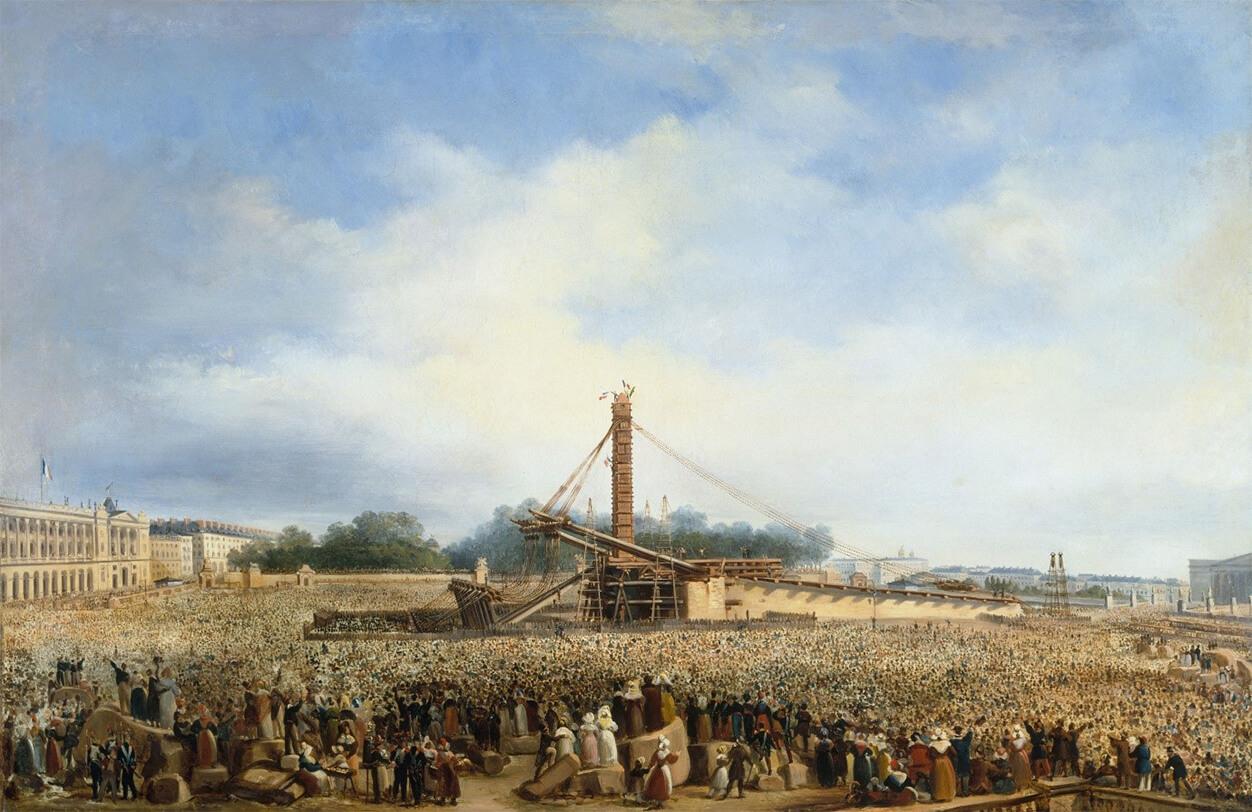 L'érection de l'obélisque de Louqsor