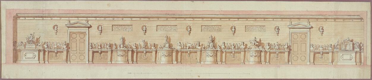 La Galerie des Antiques au Garde-Meuble dessinée par Jean-Démosthène Dugourc (1778)