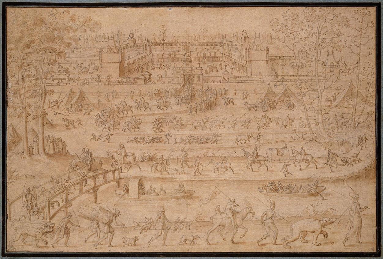 Le château d'Anet par Antoine Caron (1521-1599), musée du Louvre, D.A.G.Photo