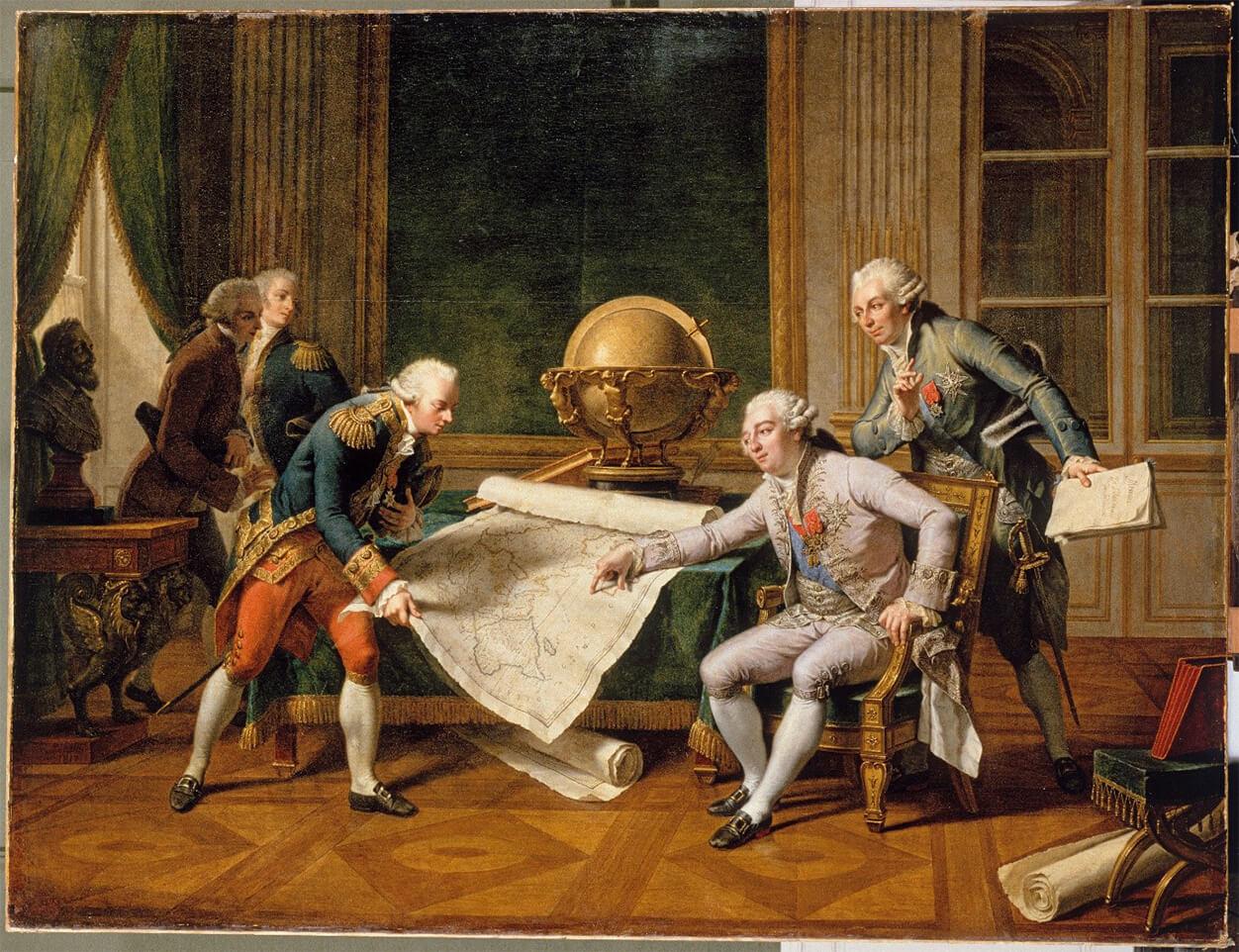 Louis XVI donnant ses instructions à La Pérouse avant le départ de l'expédition d'exploration du Pacifique