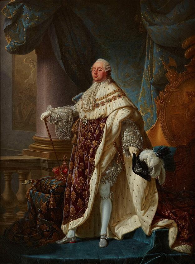 Louis XVI en costume du Sacre par Antoine-François Callet