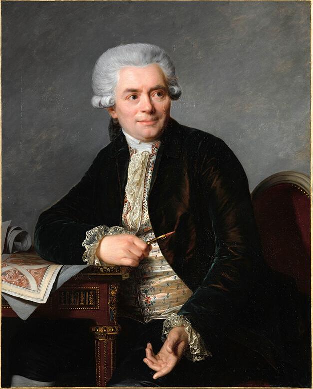 Portrait de Jean-Henri Riesener par Antoine Vestier (1786)