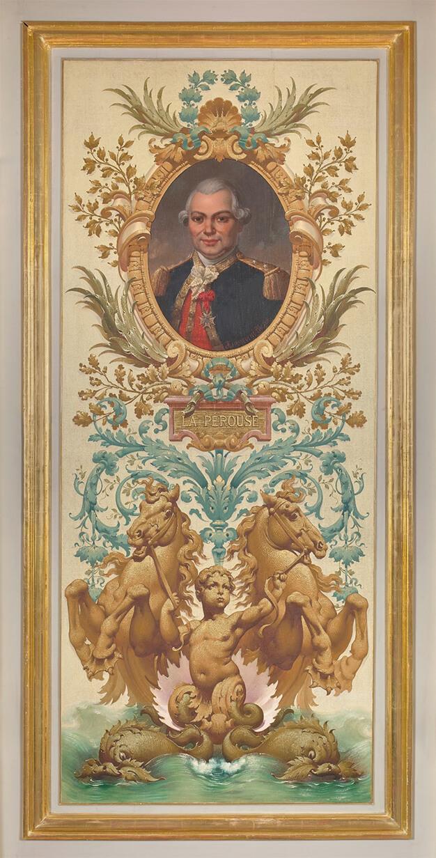 Portrait de La Pérouse dans les salons d'honneur