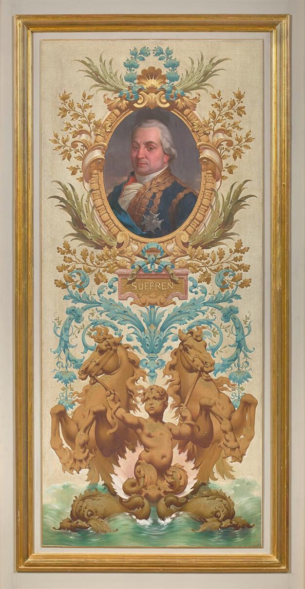 Portrait de Suffren dans le salon des amiraux de l'Hôtel de la Marine