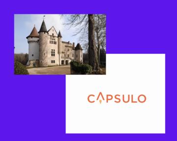 Château d'Aulteribe et logo Capsulo