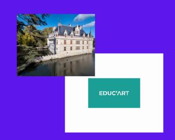 Château d'Azay le Rideau et logo d'educ'art