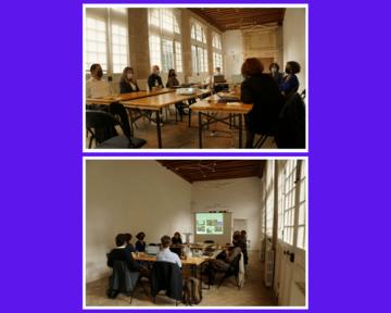 Photo des ateliers en compagnie des incubés à l'hôtel de Sully