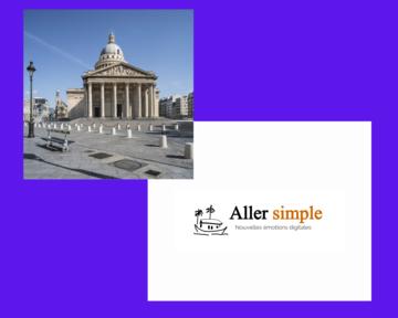 Photo du Panthéon et logo de Aller Simple