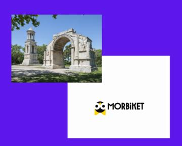 Site archéologique de Glanum et logo de Morbiket