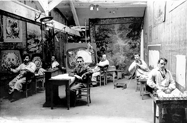 Atelier de peinture de cartons de tapisseries à Aubusson