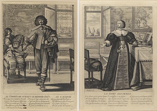 Abraham Bosse, Courtisan suivant le dernier édit, eau-forte, milieu du XVIIe siècle. Musée du Louvre, collection Rothschild.