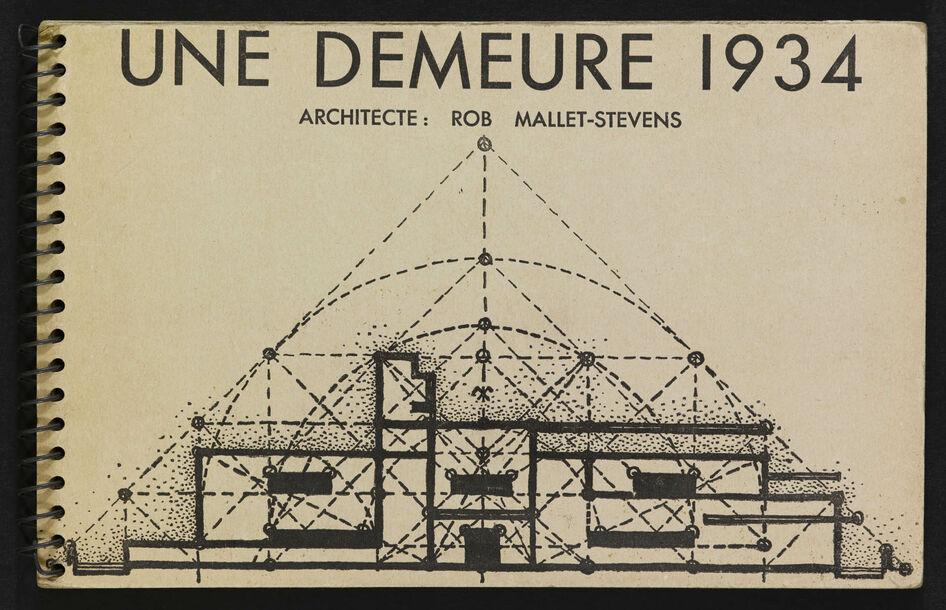 """Couverture du """"Une Demeure 1934"""", Boulogne, Ed. de l'Architecture d'Aujourd'hui, 1934"""