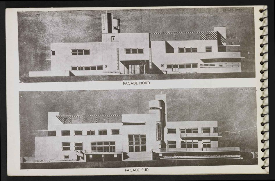 """Page 52 du """"Une Demeure 1934"""", Boulogne, Ed. de l'Architecture d'Aujourd'hui, 1934."""