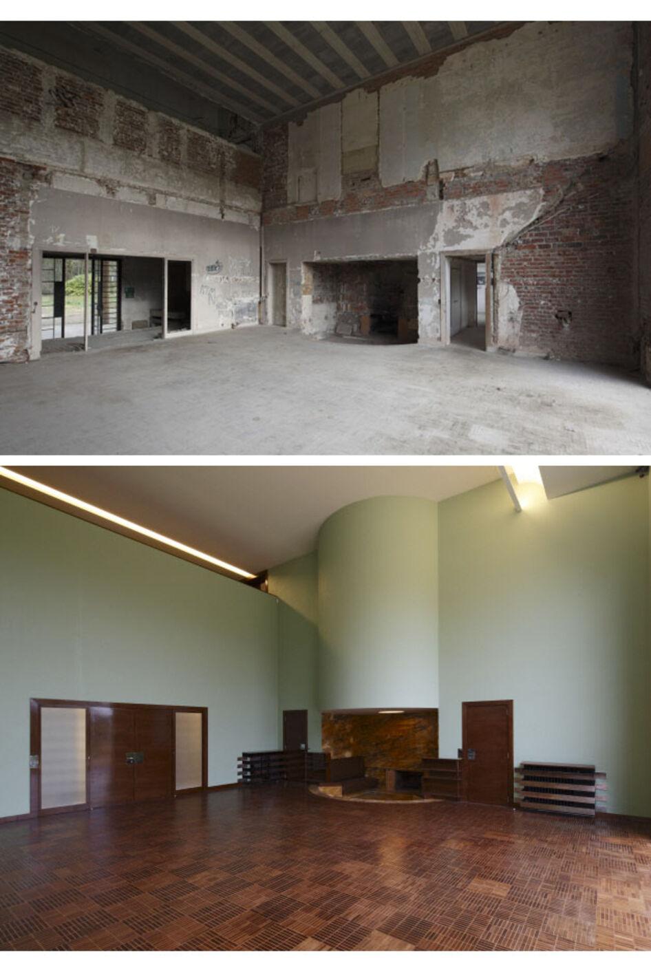 Hall salon - avant /après