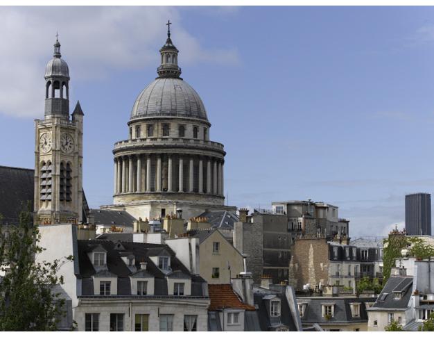 Panthéon, dôme et clocher de l'église Saint-Étienne-du-Mont